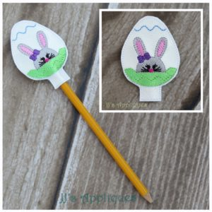Easter Bunny in Egg Pencil Topper