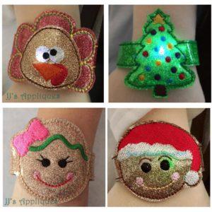 Holiday Set of 10 Flashing Bracelets